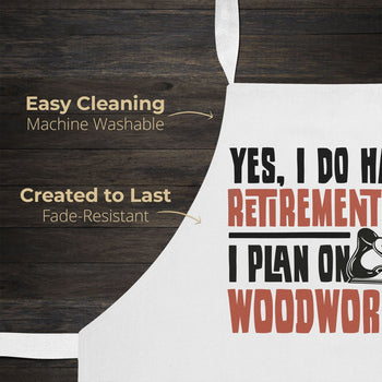 Yes I Do Have a Retirement Plan, Woodworking - Apron - [variant_title]