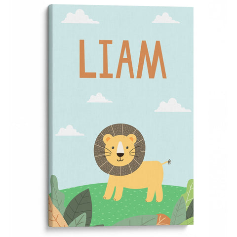 Safari Lion - Personalized Canvas - Baby or Child Gift Idea