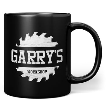 Sawblade Personalized Workshop Mug - Black / Regular - 11oz