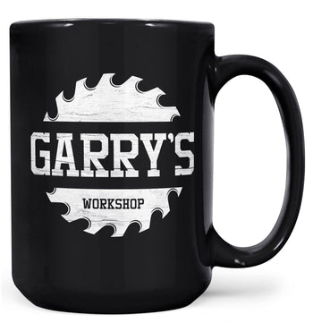 Sawblade Personalized Workshop Mug - Black / Large - 15oz