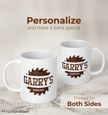 Sawblade Personalized Workshop Mug - [variant_title]
