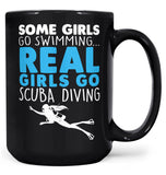 Real Girls Go Scuba Diving - Mug - Black / Large - 15oz