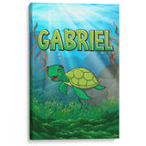 Sea Turtle - Personalized Canvas - Baby or Child Gift Idea