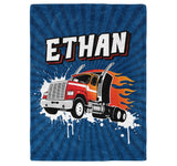 Little Firefighter - Personalized Name Blanket - Micro Fleece