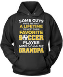 Favorite Soccer Player - Mine Calls Me Grandpa Pullover Hoodie Sweatshirt