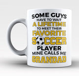 Favorite Soccer Player - Mine Calls Me Grandad Mug