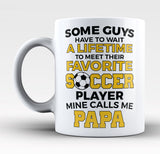 Favorite Soccer Player - Mine Calls Me Papa - Mug