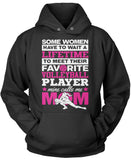 Favorite Volleyball Player - Mine Calls Me Mom Pullover Hoodie Sweatshirt