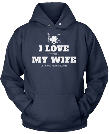 I Love My Wife & Drums - T-Shirts