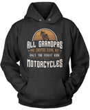Only the Finest Grandpa's Ride Motorcycles Pullover Hoodie Sweatshirt
