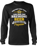 This Papaw Loves Brewing Beer Longsleeve T-Shirt