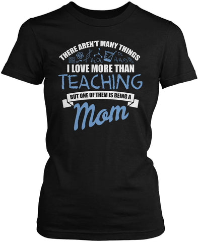 This (Nickname) Love Being a Teacher - Personalized Women's Fit T-Shirt