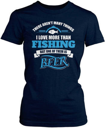 I Love Fishing and Beer - T-Shirts