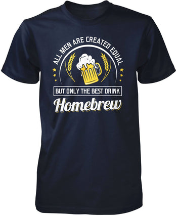 Only the Best Men Drink Homebrew - Premium T-Shirt / Navy / S