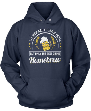 Only the Best Men Drink Homebrew - Pullover Hoodie / Navy / S
