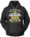 This Grandpa Loves Brewing Beer Pullover Hoodie Sweatshirt