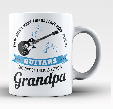 This Grandpa Loves His Guitars Coffee Mug