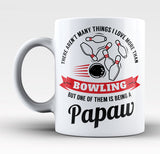 This Papaw Loves Bowling - Mug