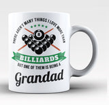 This Grandad Loves Billiards - Coffee Mug / Tea Cup
