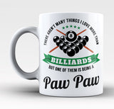 This Paw Paw Loves Billiards - Mug