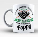 This Poppy Loves Billiards - Mug