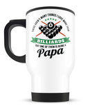 This Papa Loves Billiards - Travel Mug