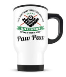 This Paw Paw Loves Billiards - Travel Mug