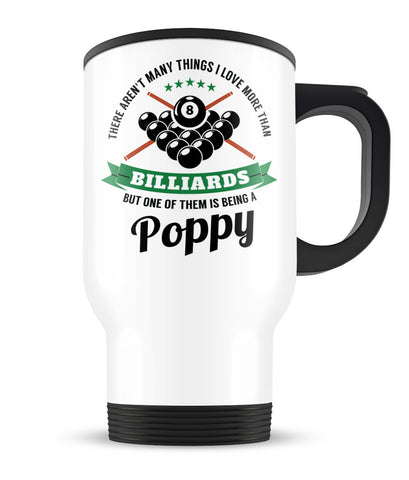 This Poppy Loves Billiards -Travel Mug