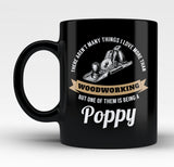 This Poppy Loves Woodworking - Mug