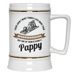 This Pappy Loves Woodworking - Beer Stein