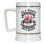 Only the Finest Pops Drive Hot Rods - Beer Stein