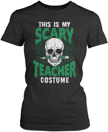 This Is My Scary Teacher Costume - Women's Fit T-Shirt / Dark Heather / S