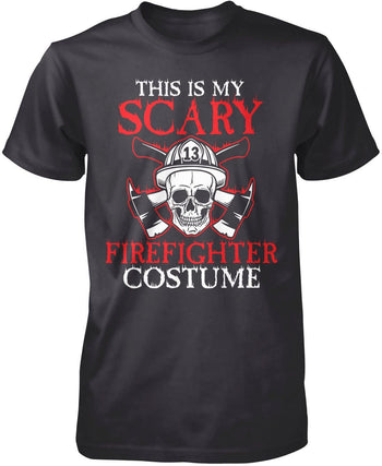 This Is My Scary Firefighter Costume - Premium T-Shirt / Dark Heather / S
