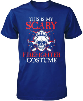 This Is My Scary Firefighter Costume - Premium T-Shirt / Royal / S