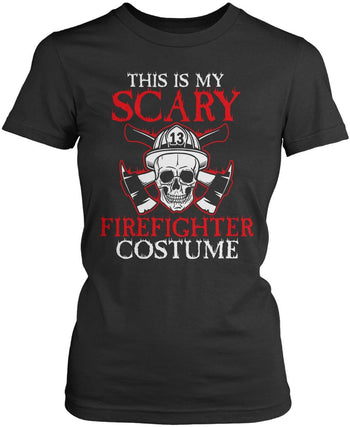 This Is My Scary Firefighter Costume - Women's Fit T-Shirt / Dark Heather / S
