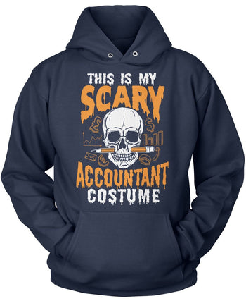 This Is My Scary Accountant Costume - Pullover Hoodie / Navy / S
