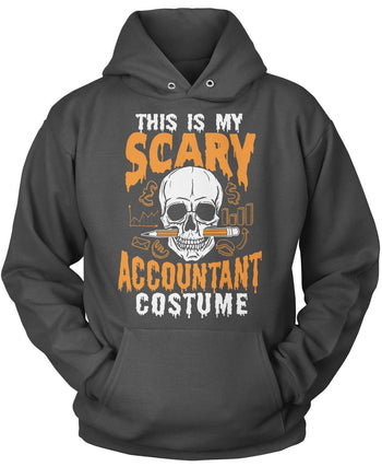 This Is My Scary Accountant Costume - Pullover Hoodie / Dark Heather / S