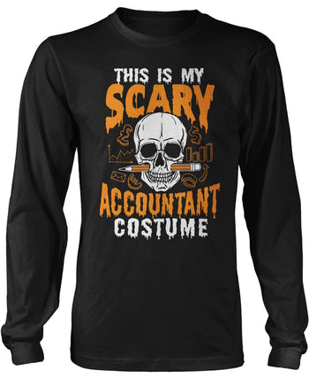 This Is My Scary Accountant Costume - Long Sleeve T-Shirt / Black / S