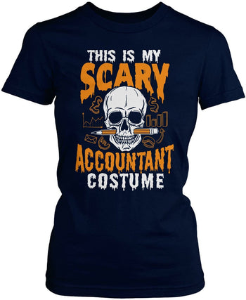 This Is My Scary Accountant Costume - Women's Fit T-Shirt / Navy / S