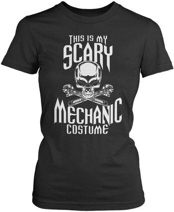 This Is My Scary Mechanic Costume - Women's Fit T-Shirt / Dark Heather / S