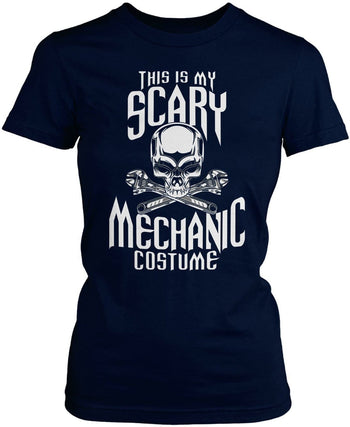 This Is My Scary Mechanic Costume - Women's Fit T-Shirt / Navy / S