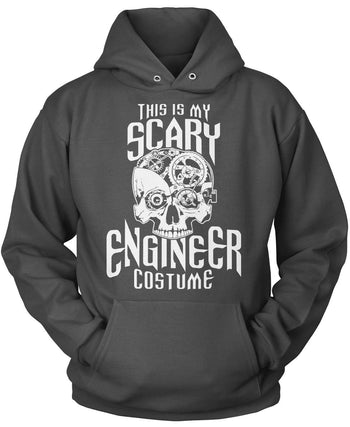This Is My Scary Engineer Costume - Pullover Hoodie / Dark Heather / S