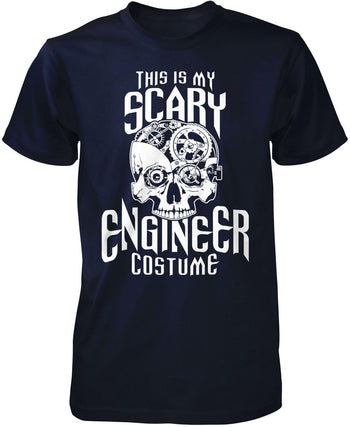 This Is My Scary Engineer Costume - Premium T-Shirt / Navy / S