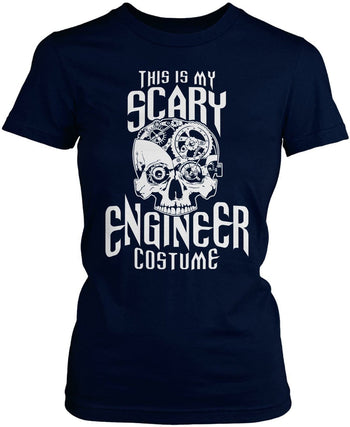 This Is My Scary Engineer Costume - Women's Fit T-Shirt / Navy / S