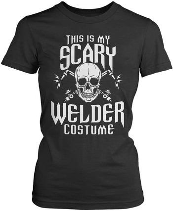 This Is My Scary Welder Costume - Women's Fit T-Shirt / Dark Heather / S