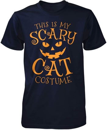 This Is My Scary Cat Costume - Premium T-Shirt / Navy / S