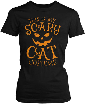 This Is My Scary Cat Costume Women's Fit T-Shirt