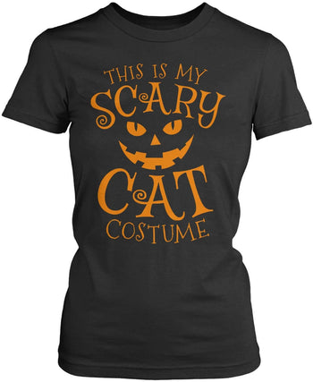 This Is My Scary Cat Costume - Women's Fit T-Shirt / Dark Heather / S