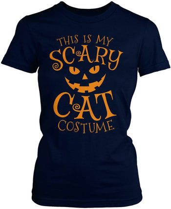 This Is My Scary Cat Costume - Women's Fit T-Shirt / Navy / S