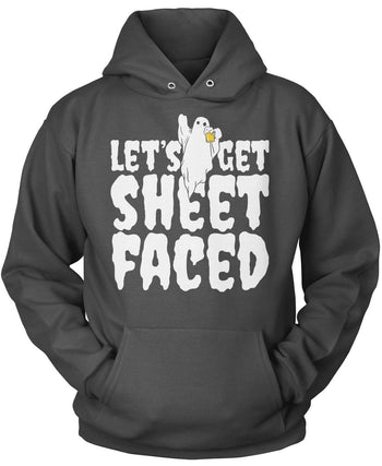 Let's Get Sheet Faced - Pullover Hoodie / Dark Heather / S